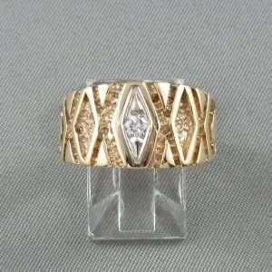 Bague un diamant, 10K, B6691-1