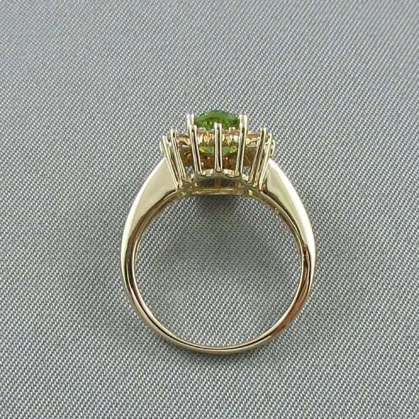 Bague Péridot et diamants, 14K jaune, B6693-3