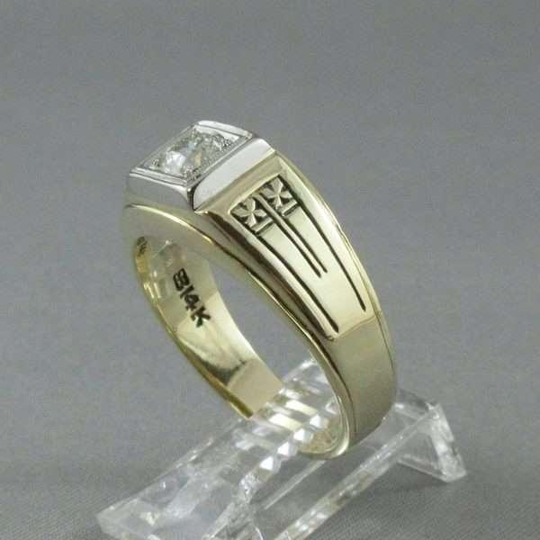 Bague un diamant, 14K, BIRKS, B6743-2