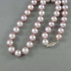 Collier perles d'eau douce rose, B6744-1