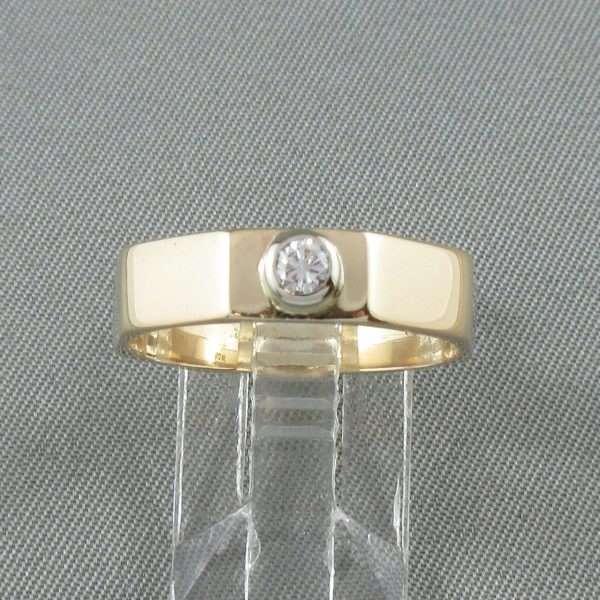Bague un diamant, 10K jaune, B6747-1