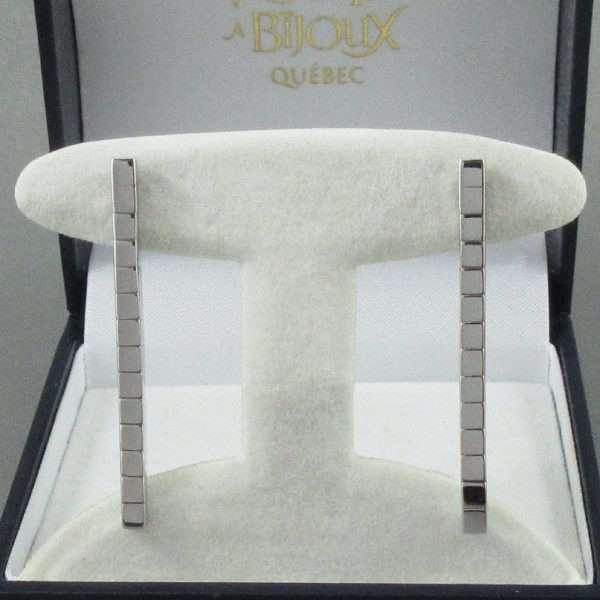 Pendants d'oreilles, 18K blanc, Cartier 'Lanière', B6786-1