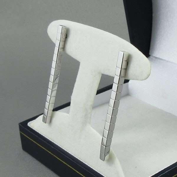 Pendants d'oreilles, 18K blanc, Cartier 'Lanière', B6786-2