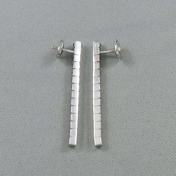 Pendants d'oreilles, 18K blanc, Cartier 'Lanière', B6786-3