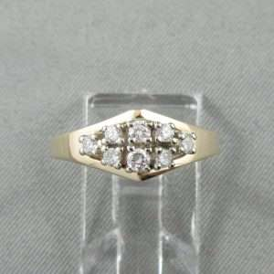 Bague 8 diamants, 14K , B6790-1