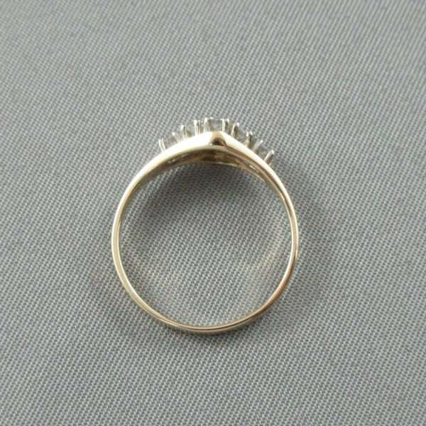 Bague 8 diamants, 14K , B6790-3