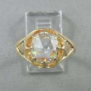 Bague un diamant, 18K, B6795-1