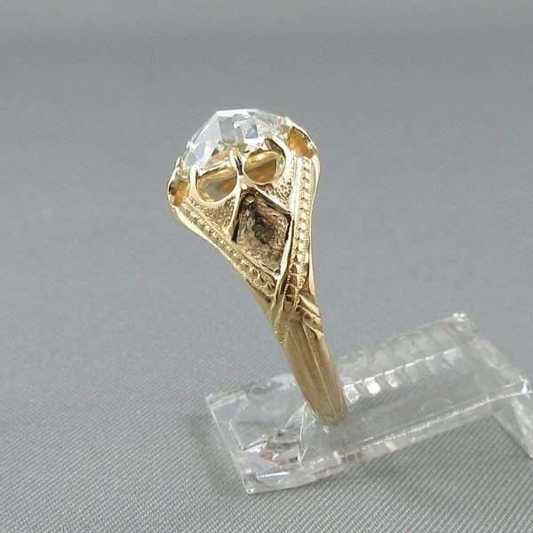 Bague un diamant, 18K, B6795-2