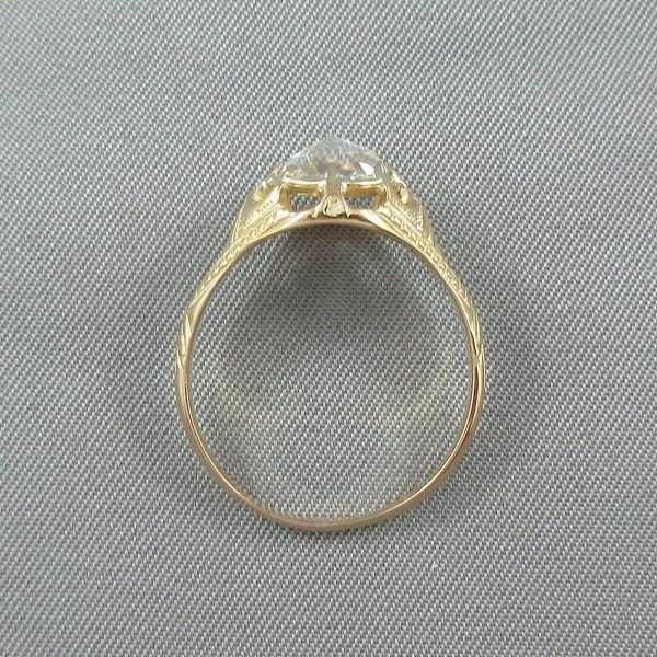 Bague un diamant, 18K, B6795-3