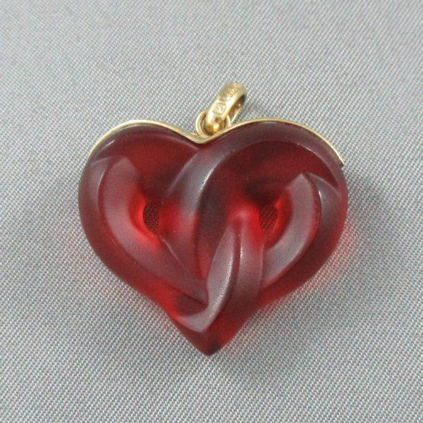 Lalique, pendentif coeur , B6492-1