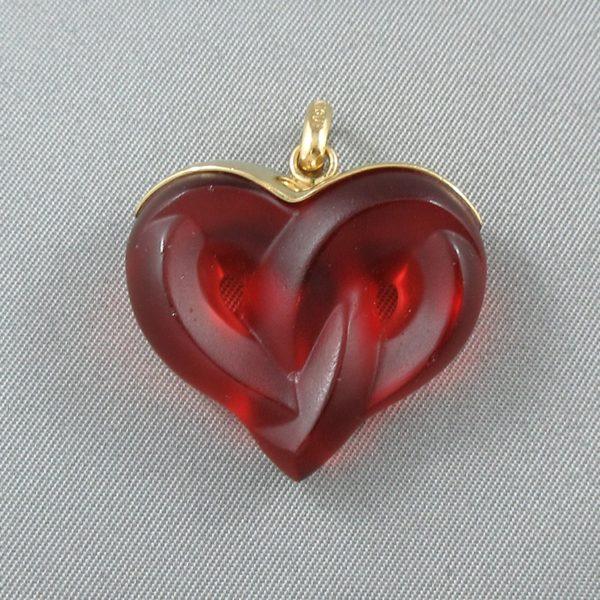 Lalique, pendentif coeur , B6492-2