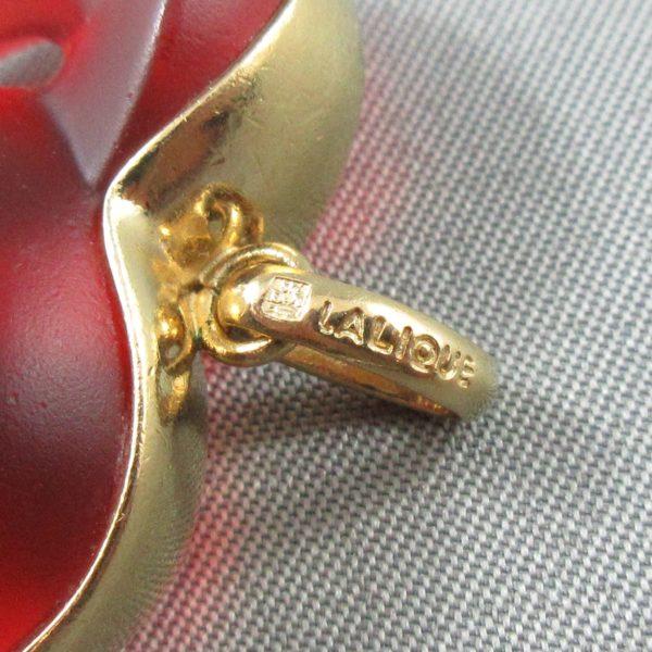 Lalique, pendentif coeur , B6492-3