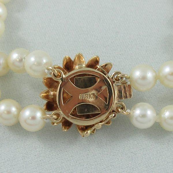 Bracelet 2 rangs, perles Akoya, 14K jaune, B6784-5