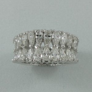 Bague 52 diamants, platine, C3140-1