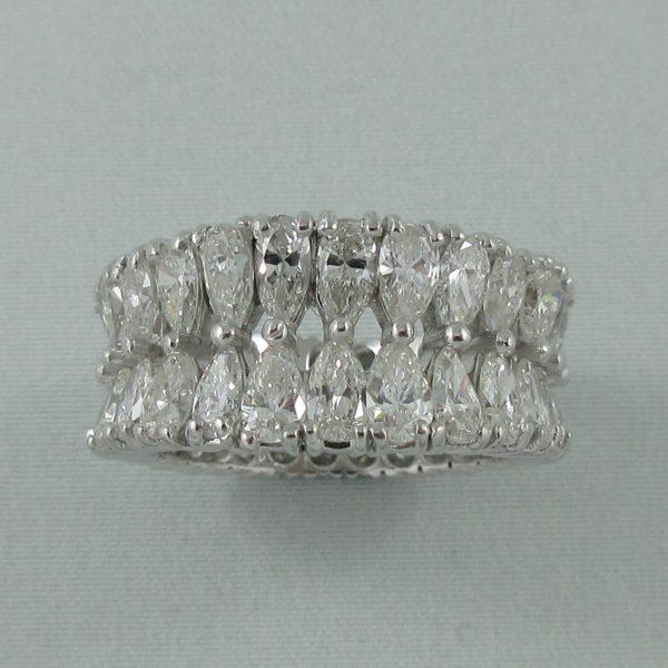 Bague 52 diamants, platine, C3140-1