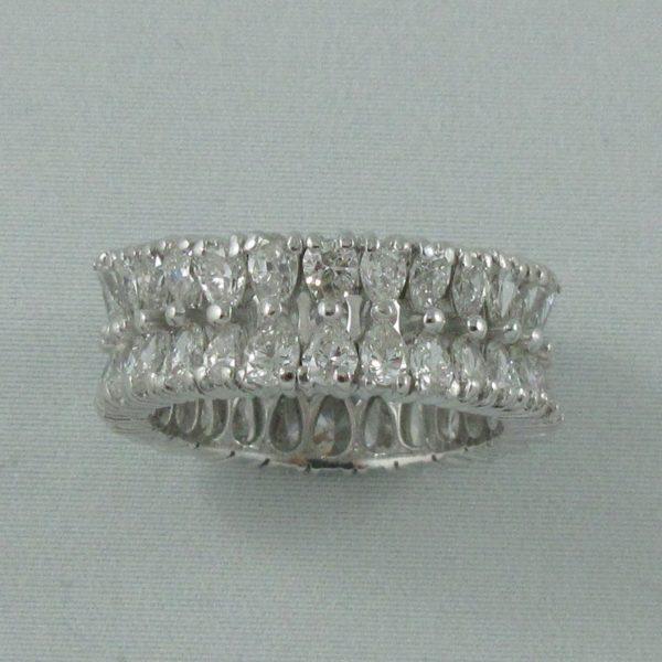 Bague 52 diamants, platine, C3140-2