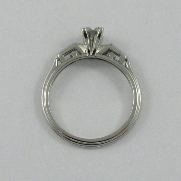 Bague un diamant, 18K blanc, B6761-3