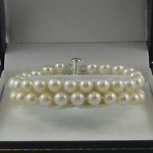 Bracelet 2 rangs, perles Akoya, B6782-1