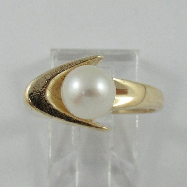Bague perle Akoya, 10K jaune, B6832-1