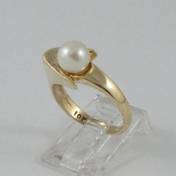 Bague perle Akoya, 10K jaune, B6832-2
