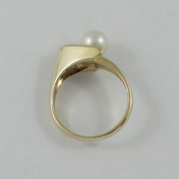 Bague perle Akoya, 10K jaune, B6832-4
