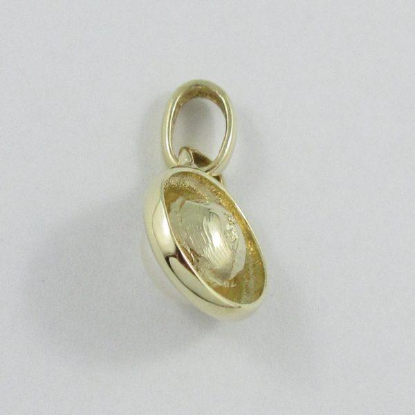 Pendentif perle Akoya, 10K jaune, B6896-2