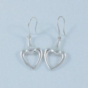 GUCCI 'horsebit heart', pendants d'oreilles, argent, B6906-1
