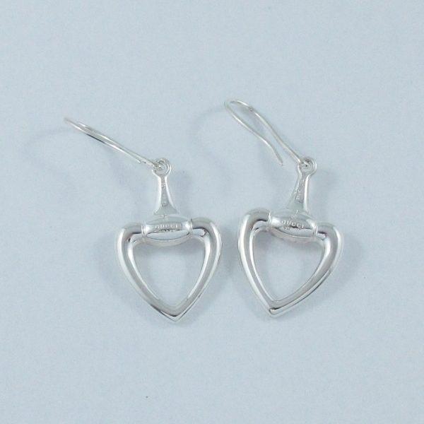 GUCCI 'horsebit heart', pendants d'oreilles, argent, B6906-2