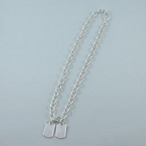 GUCCI collier 'double dog tag', argent, B6907-1