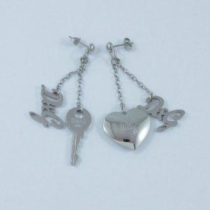 D&G, clef et cœur pendants d'oreilles, B6908-1