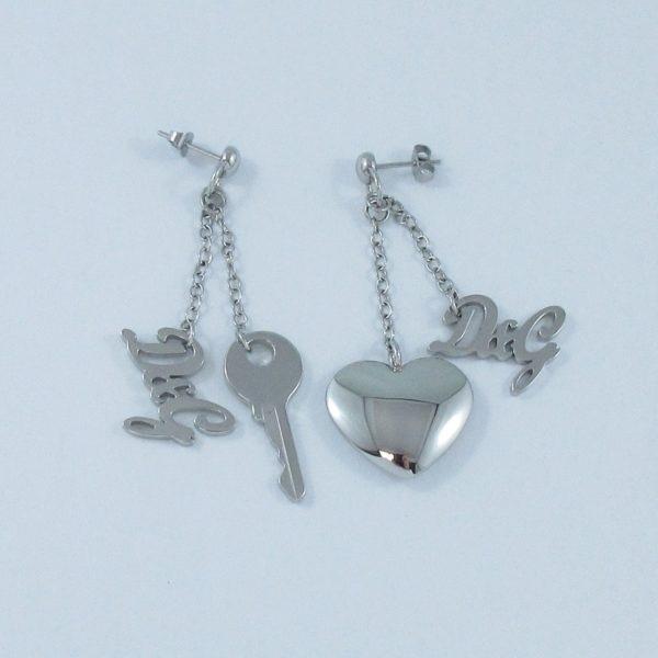 D&G, clef et cœur pendants d'oreilles, B6908-2