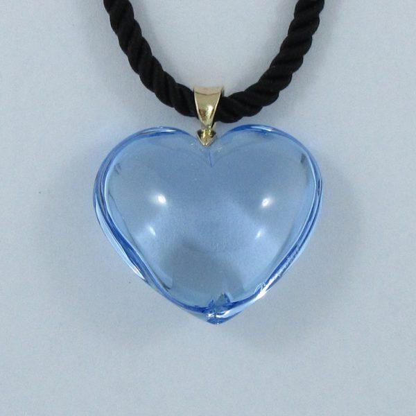 Baccarat pendentif coeur bleu, B6910-1