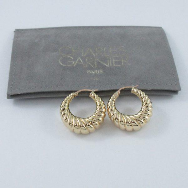 Boucles d'oreilles 18K jaune Charles Garnier Paris, B6914-4