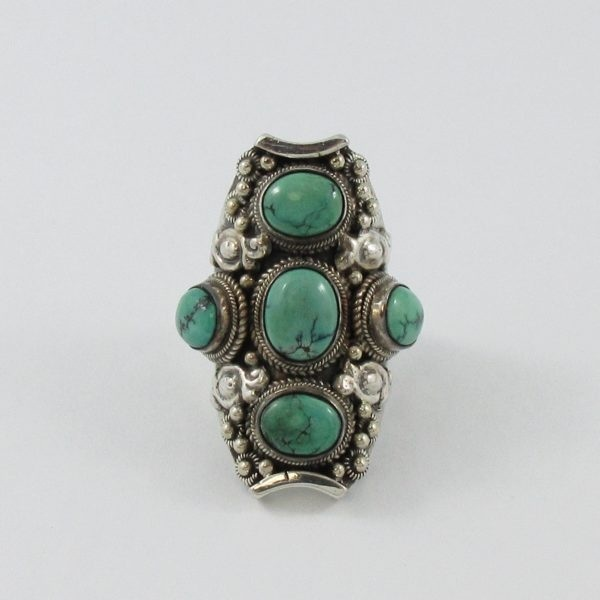 Bague, 5 turquoises, B6741-1