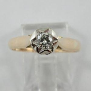 Bague, un diamant, 18K, B6938-1