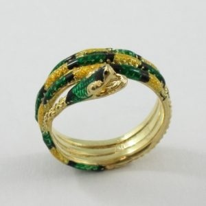 Bague, serpent, 18K, B6939-1