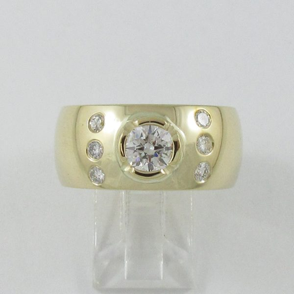 Bague 7 diamants, 14K jaune, B6941-1