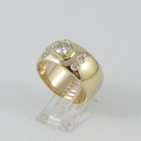 Bague 7 diamants, 14K jaune, B6941-2