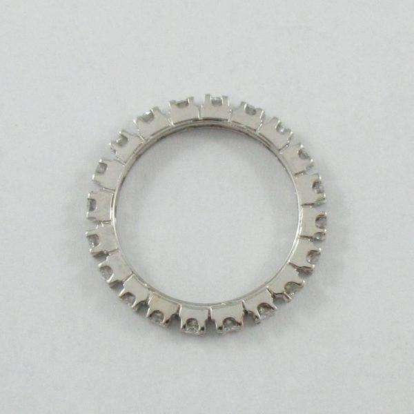Jonc éternité, 18K blanc, B6942-3