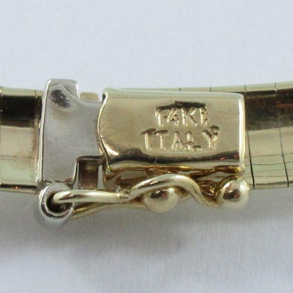 Collier oméga, 14K jaune, B6944-3