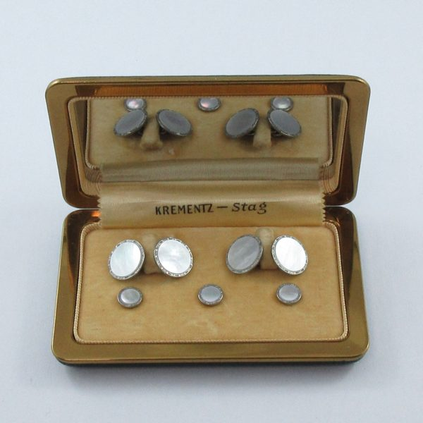 Krementz Stag, boutons de manchette et boutons de plastron, B6965-1