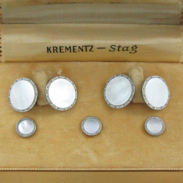 Krementz Stag, boutons de manchette et boutons de plastron, B6965-2