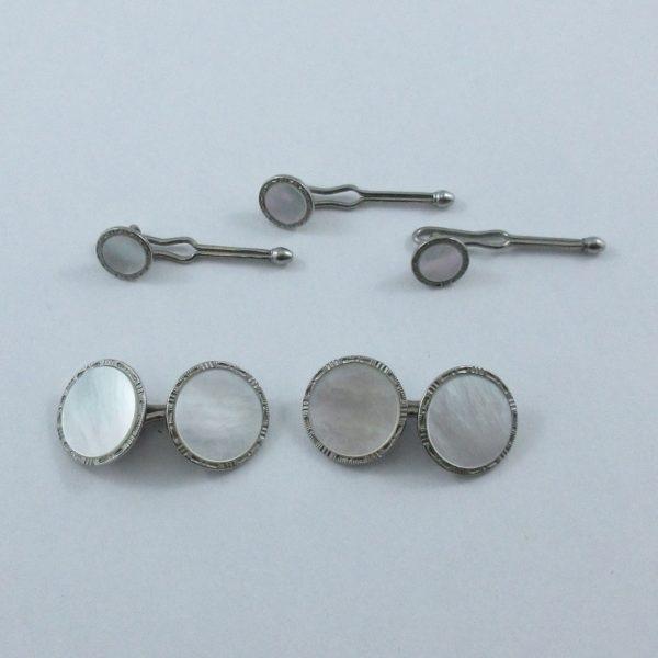 Krementz Stag, boutons de manchette et boutons de plastron, B6965-3