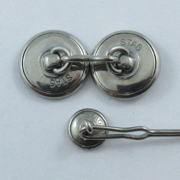 Krementz Stag, boutons de manchette et boutons de plastron, B6965-4