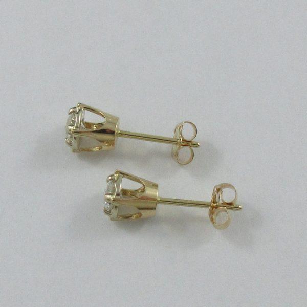 Boucles d'oreilles 2 diamants, 14K, B6928-2