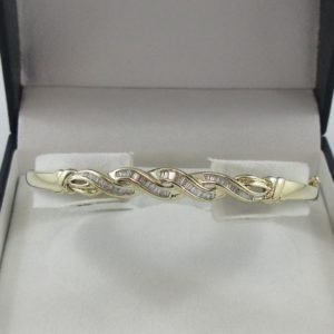 Bracelet diamants, 10K jaune, B7004-1