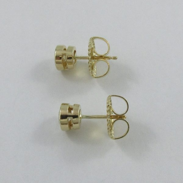 Boucles d'oreilles 2 diamants, 14K jaune, B7008-2