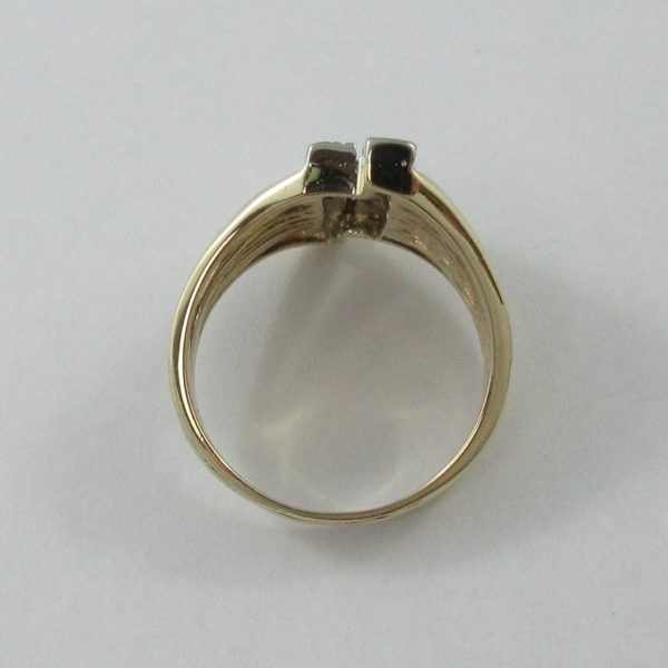 Bague, 14 diamants, 14K, B7011-3