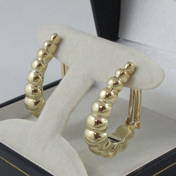 Boucles d'oreilles, 14K jaune, C3142-2