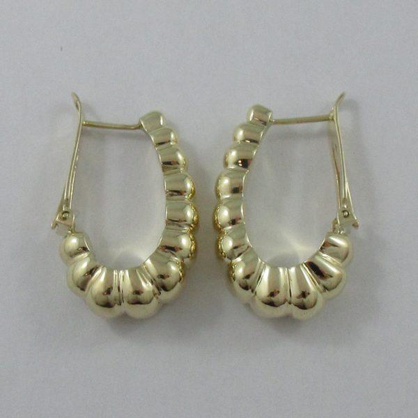 Boucles d'oreilles, 14K jaune, C3142-3